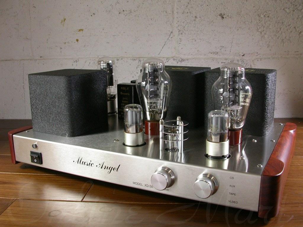 Интегральный ламповый однотактный усилитель в открытом дизайне, переделанный Music Angel XDSE-300B.