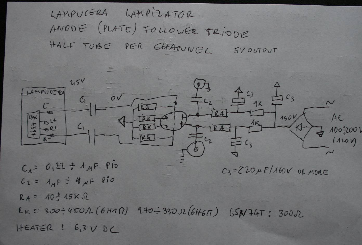 Request for help - Looking for someone to help me understand the lampizator circuit  diagram